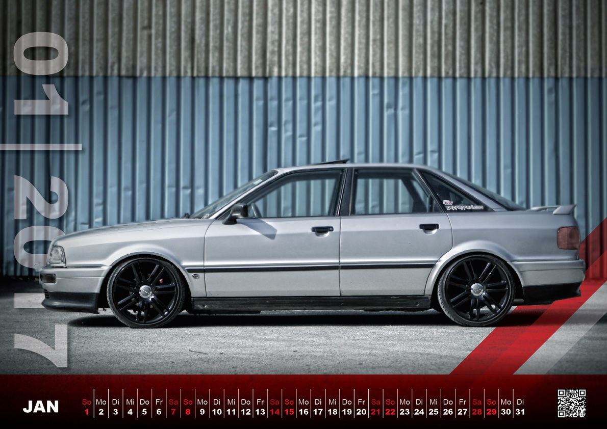 Audi 80 Fan Kalender 2017