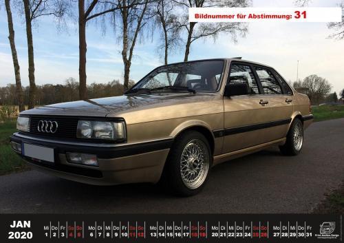Audi-80-Fan-Kalender2020 Voting 31