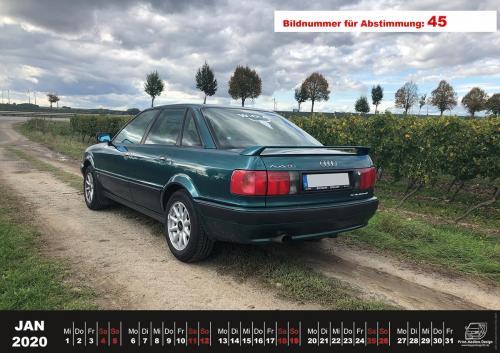 Audi-80-Fan-Kalender2020 Voting 45