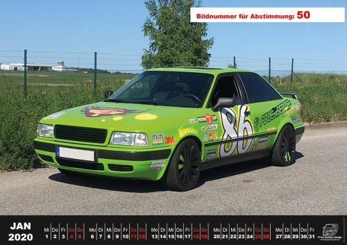Audi-80-Fan-Kalender2020 Voting 50